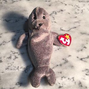 ❤️Ty Beanie babies, Slippery the seal. (4222) Rare